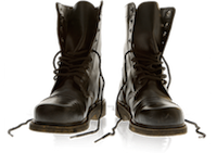 a pic of some boots with bootstraps, get it?