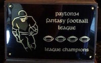 Payton34 fantasy football league