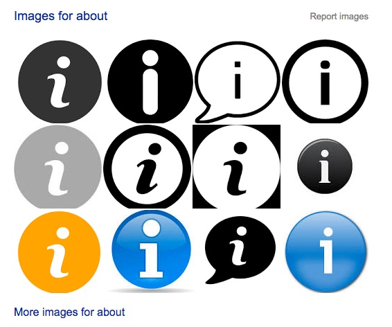 google images 'about icons'